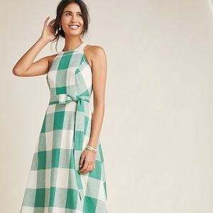 Anthropologie Gingham Dress